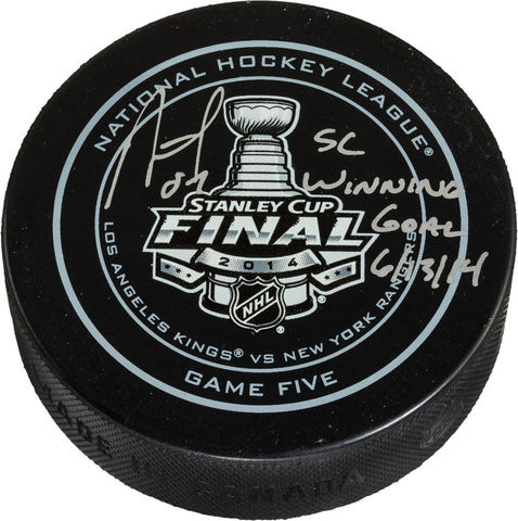 Los Angeles Kings Stanley Cup Winning Goal Puck 2014