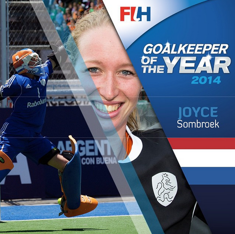 FIH Goalkeeper of the Year 2014 - Joyce Sombroek