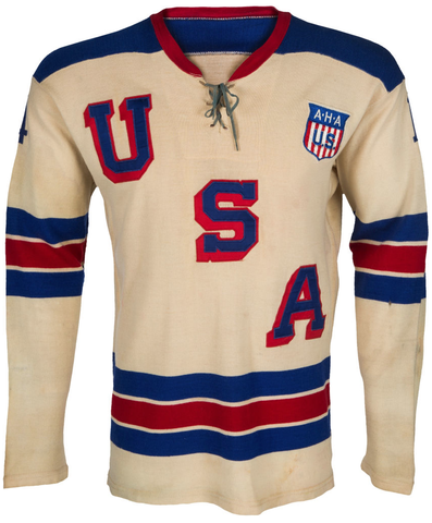 Herb Brooks Game Worn USA Hockey Team Jersey 1960