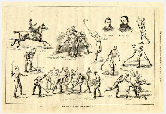 The Dublin Metropolitan Hurling Club 1884 - Caricature Print