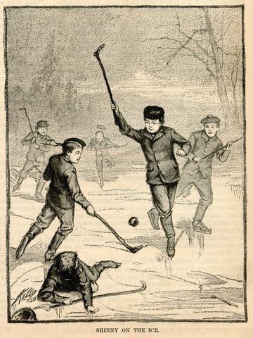 Shinny On The Ice - Harper's Young People - March 9, 1880