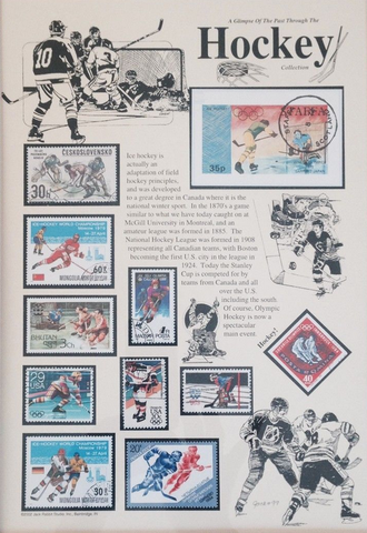 A Glimpse of Hockey Through Postage Stamps 1964 to 1992