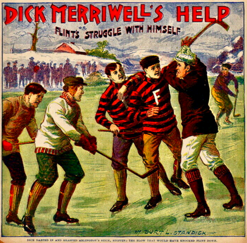 Dick Merriwell's Help - Antique Ice Hockey Art 1903