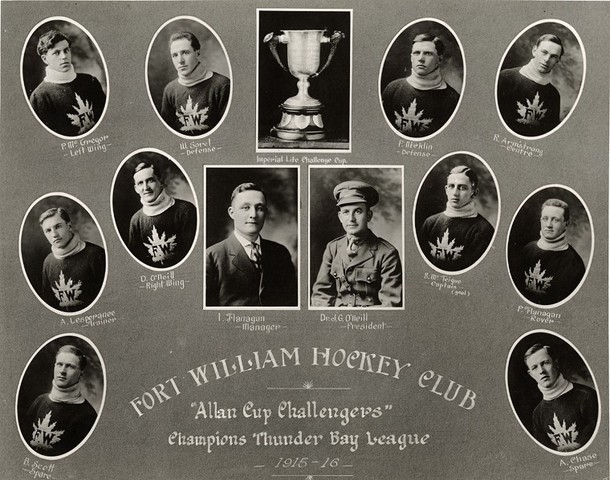 Fort William Hockey Club - Thunder Bay League Champions 1916