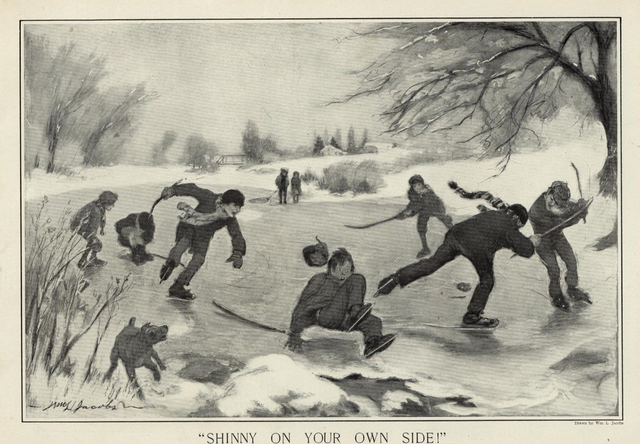 Shinny On Your Own Side - Harper's Weekly 1910