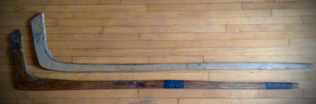 Antique Ice Hockey Sticks - One is Carbon-14 dated to 1843