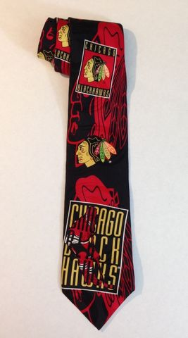 Chicago BlackHawks Necktie by Ralph Marlin 1993