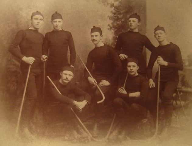 Antique Roller Polo Team - Jamestown, New York area 1880s