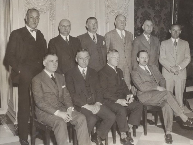 NHL Team Owners & NHL League President Frank Calder in 1934