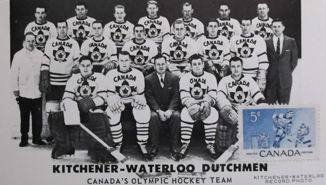 Kitchener-Waterloo Dutchmen - 1956 Canadian Olympic Hockey Team