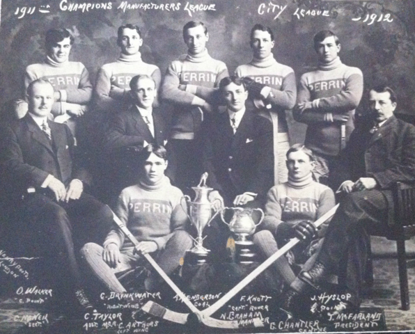 Perrin Hockey Team - Manufacturers League Champions 1909