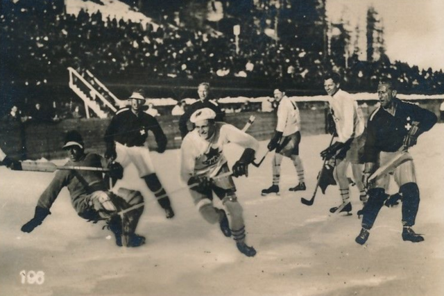 1928 Winter Olympics Gold Medal Hockey Game - Canada vs Swiss