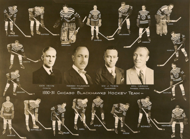 Chicago Black Hawks Team Photo 1930 - 31