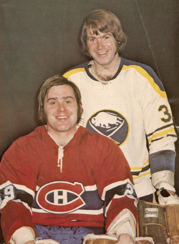 Ken Dryden & Dave Dryden in the 1973 Stanley Cup quarter-finals