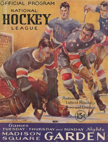 1935 New York Americans Program Cover