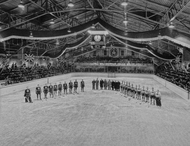 The McIntyre Building hosted the Toronto Maple Leafs in 1938