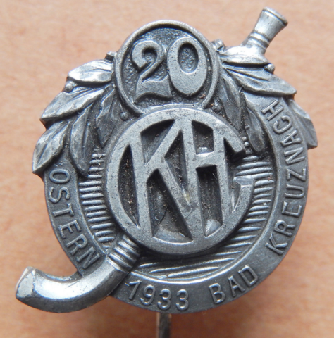 Kreuznacher Hockey Club 20 Year Anniversary Pin 1933