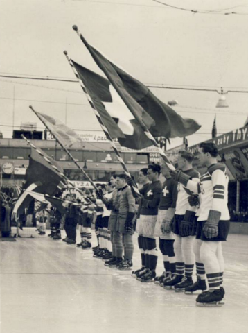 1938 Ice Hockey World Championships Opening Ceremonies in Prague