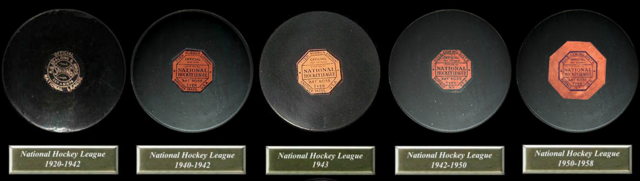 Early Game Hockey Pucks 1917 to 1958