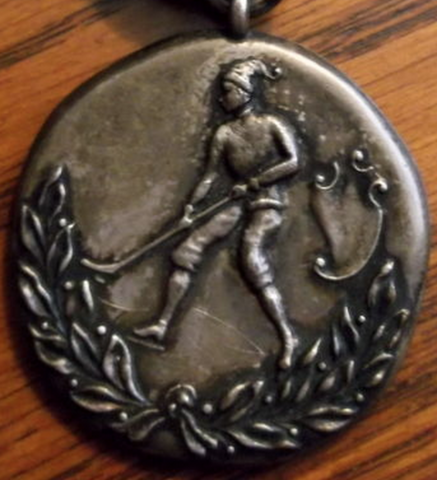 Antique Ice Hockey Medal - circa 1900