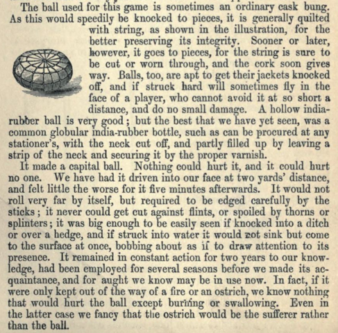 First Field Hockey Ball 1869 - Cask Bung
