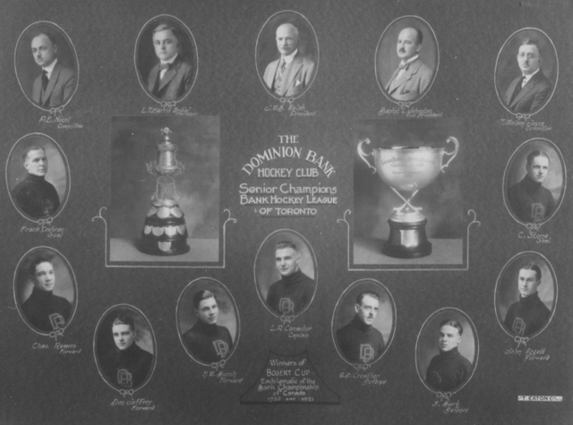 Dominion Bank Hockey Club - Bogart Cup Champions 1921