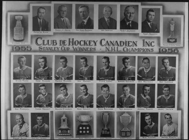 Montreal Canadiens Stanley Cup Champions 1956