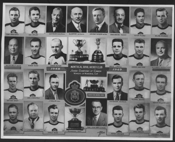 Montreal Royals Memorial Cup Champions 1949