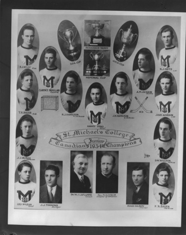 St. Michael's College Memorial Cup Champions 1934