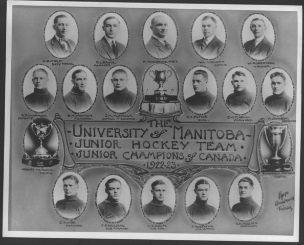 University of Manitoba Junior Hockey Memorial Cup Champions 1923