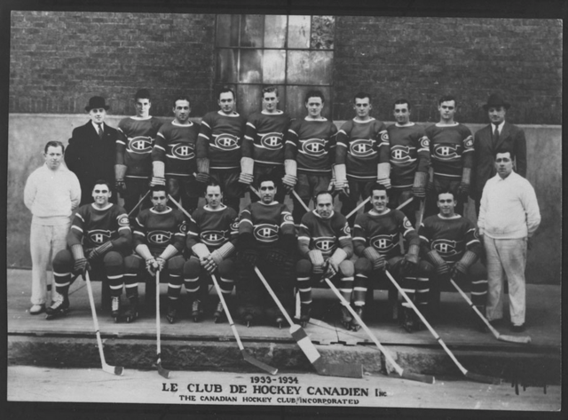 Montreal Canadiens Team 1933 - 1934 Season