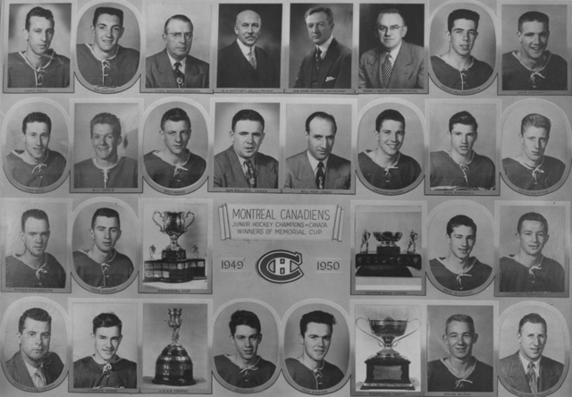 Montreal Junior Canadiens Memorial Cup Champions 1950