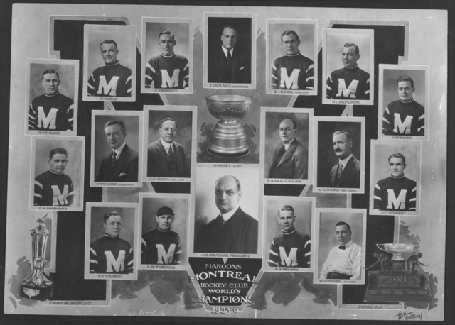 Montreal Maroons Stanley Cup Champions 1926