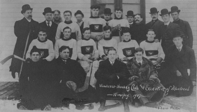 Montreal Wanderers Team & Executive of Wanderer Hockey Club 1907