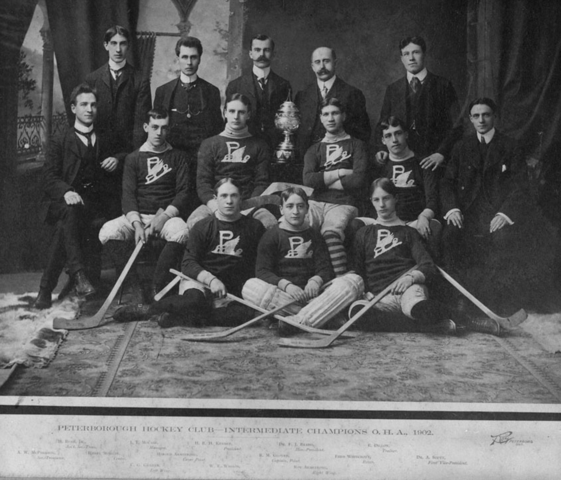 Peterborough Hockey Club Intermediate Champions O.H.A. 1902
