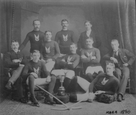 Montreal Hockey Club Montreal Winter Carnival Champions 1887