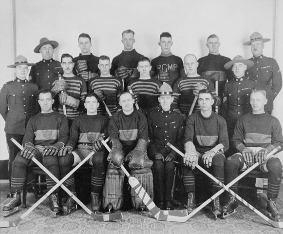 RCMP / Royal Canadian Mounted Police Hockey Team - early 1950s ?