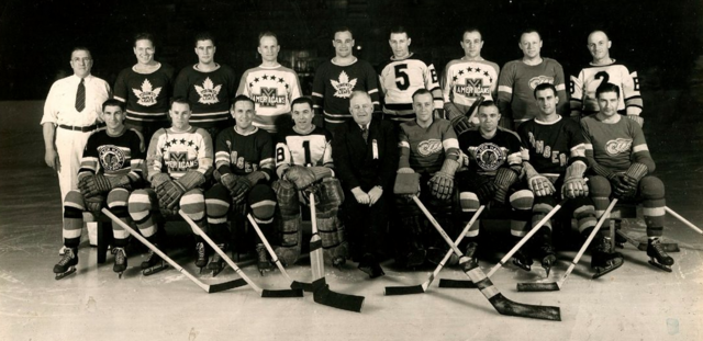 Howie Morenz Memorial Game NHL All-Stars Team Photo 1937