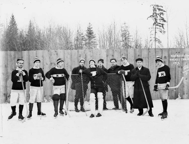 New Hazelton Hockey Team, British Columbia 1913