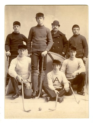 Antique Ice Polo Team 1880s