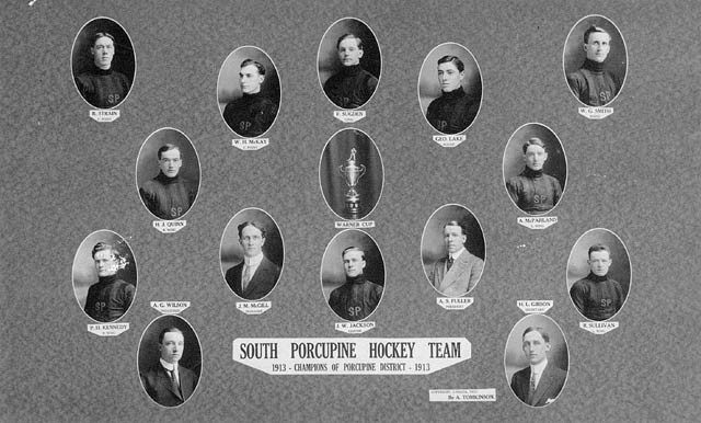 South Porcupine Hockey Team Champions of Porcupine District 1913