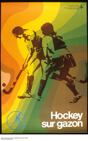 Gouvernement du Quebec Field Hockey Poster 1975