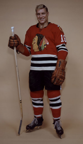 Bobby Hull Chicago Black Hawks 1960
