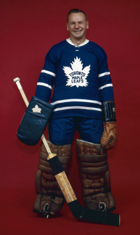 Johnny Bower Toronto Maple Leafs 1962 Stanley Cup Champion