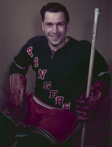 Wally Hergesheimer New York Rangers 1954