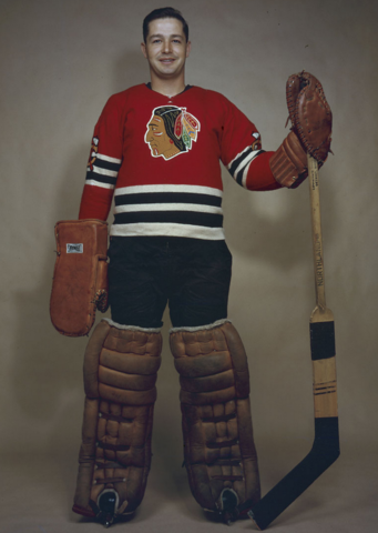 Glenn Hall Chicago Black Hawks 1958 - Mr. Goalie