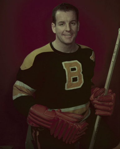 Ed Sandford Boston Bruins 1954