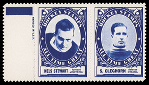 1961 Topps Hockey Stamp Panels - Nels Stewart & Sprague Cleghorn