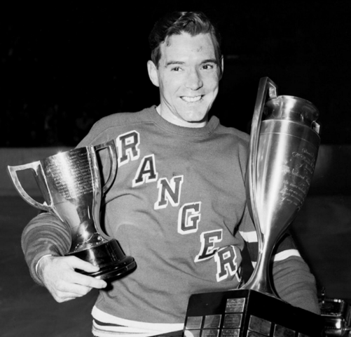 Buddy O'Connor Hart Trophy Winner 1948 Lady Byng Trophy Winner