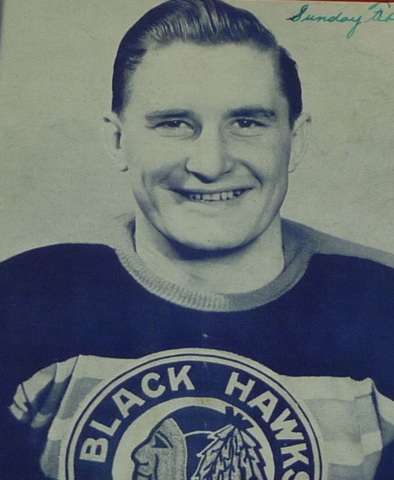 John Chad Chicago Black Hawks 1946